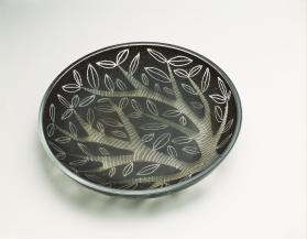 Slate Black Dish with Tree