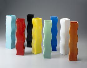 Wavy Vase (Orange; from the Wavy Glass Series)