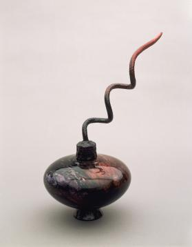 Vessel with Corkscrew Top